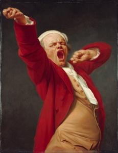 Pandiculation - Joseph Ducreux's self portrait
