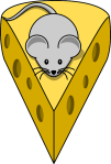 Cheese with mouse
