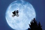 E.T. and Elliot with the Moon