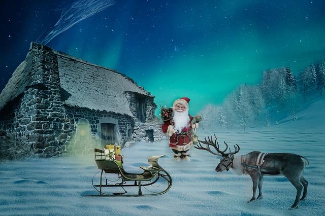 Santa on Christmas Day