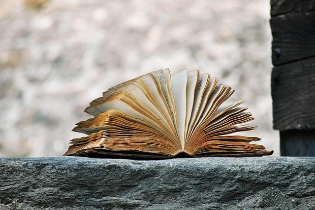 A book on a windowsill