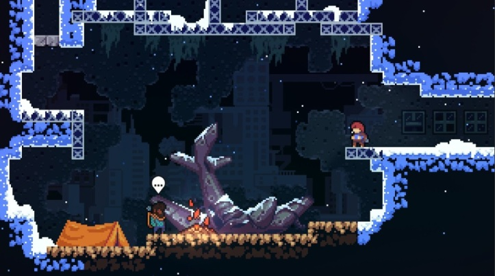 Celeste discovers a crashed plane on her adventure
