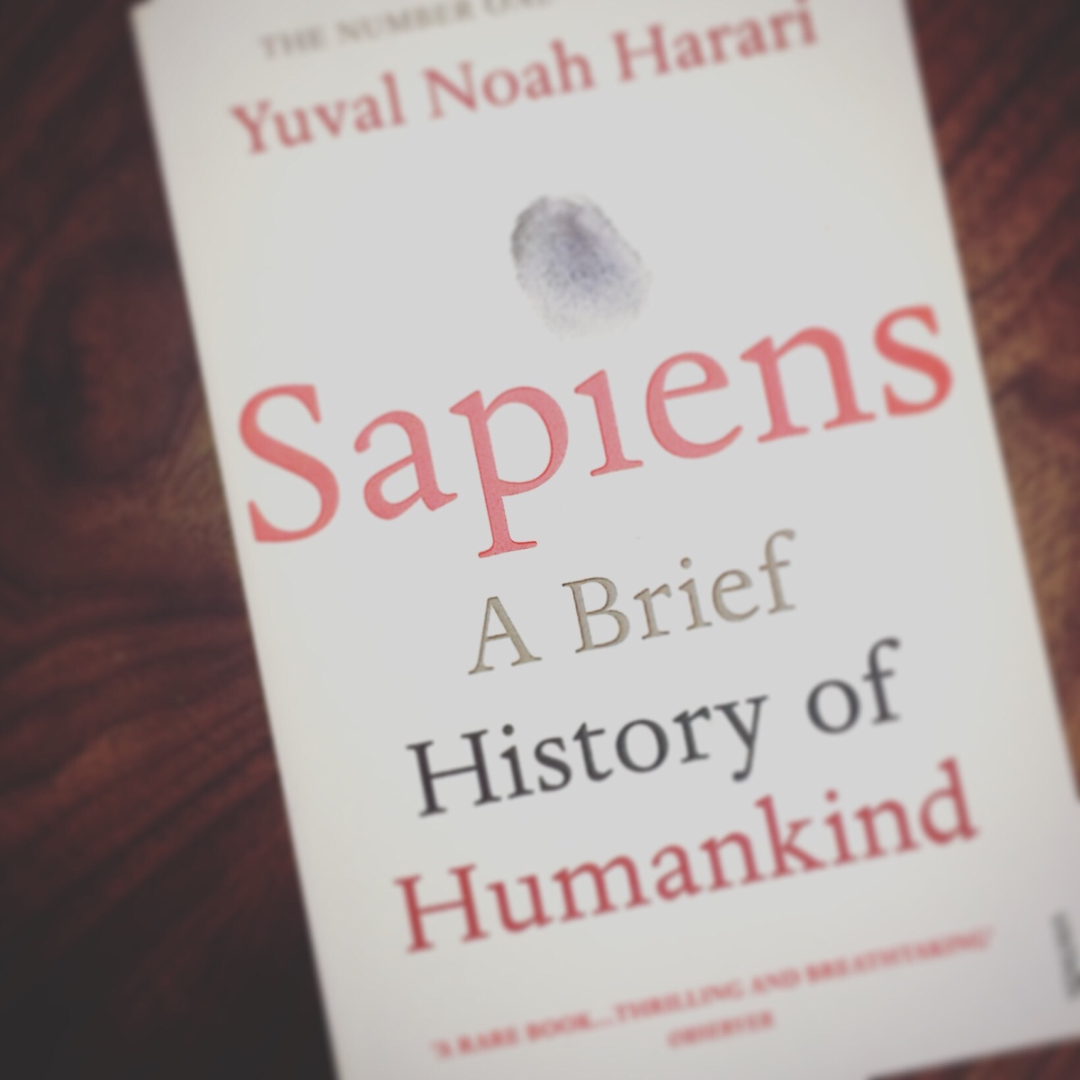 Book of da Week: Sapiens - A Brief History of Humankind by Harari