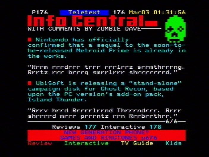 Zombie Dave News