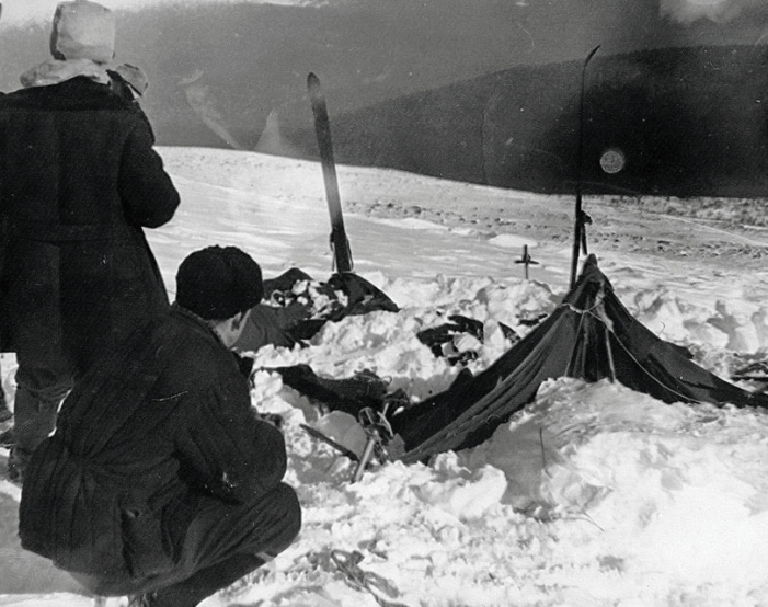 Dyatlov Pass incident - site of the abandoned tent