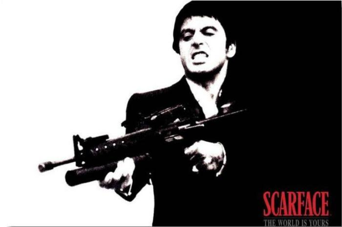 Scarface Say Hello To My Little Friend Quote Off Extravaganza