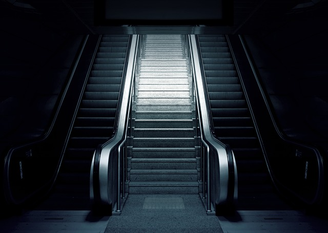 An escalator