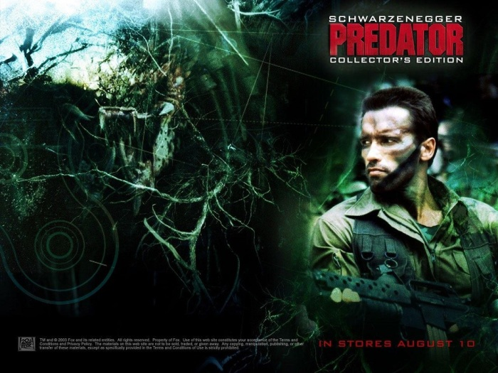Predator starring Arnold Schwarzenegger