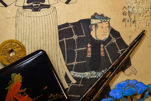 Chopsticks with a traditional Japanese drawing