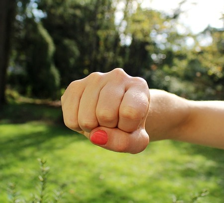 Punch of a fist