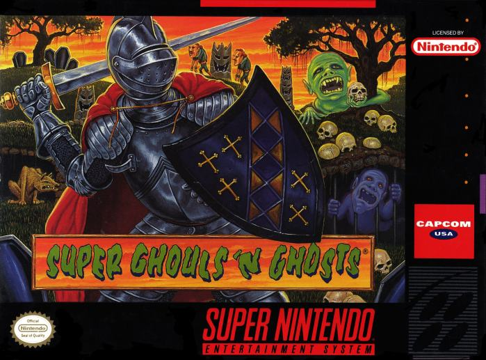 Super ghouls 'n ghosts on the snes-min