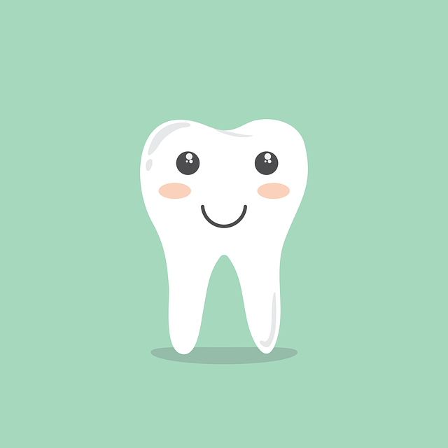 A smiling tooth