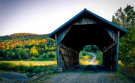A bridge in Vermont