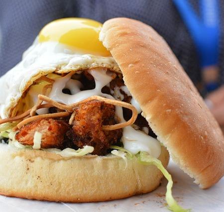 An egg and mayonnaise bun