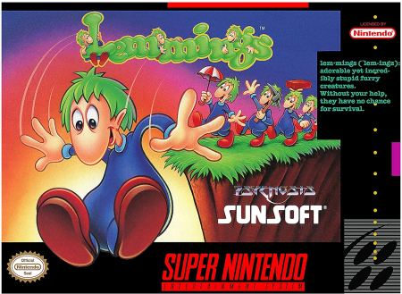 Lemmings the game on the SNES