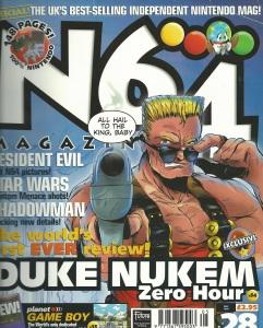 Duke Nukem N64 Magazine cover