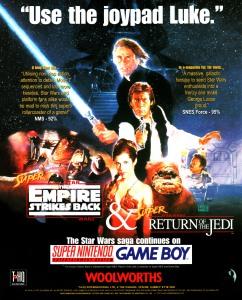 Star Wars SNES advert