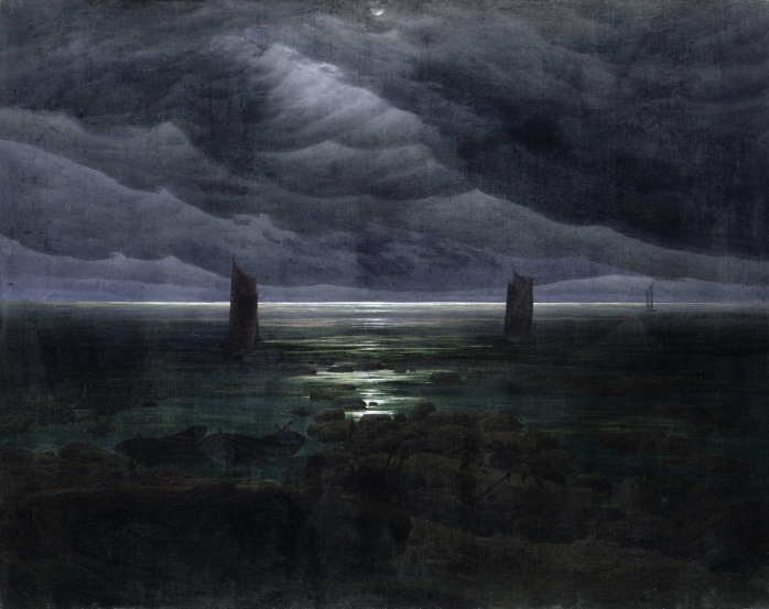 Sea Shore in Moonlight by Caspar David Friedrich