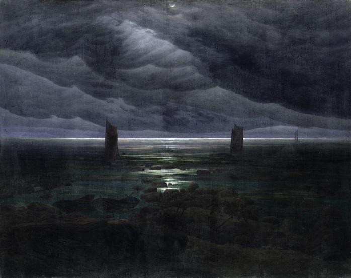 Sea Shore in Moonlight by Caspar David Friedrich