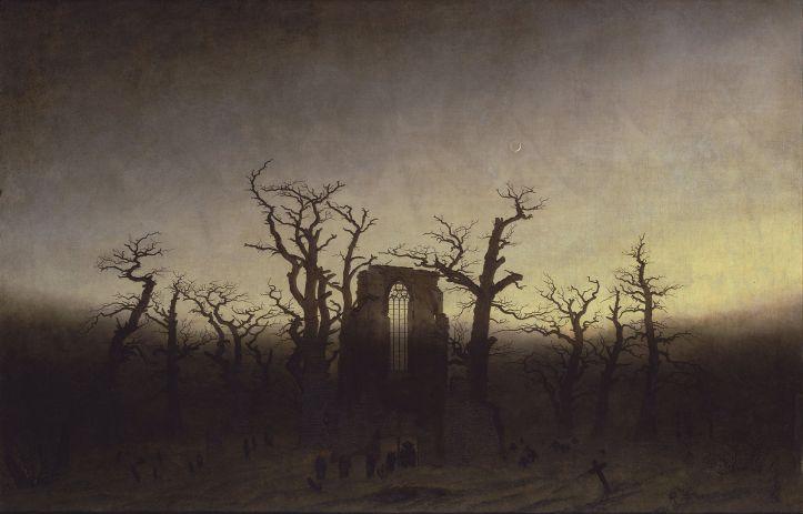 The Abbey in the Oakwoood by Caspar David Friedrich
