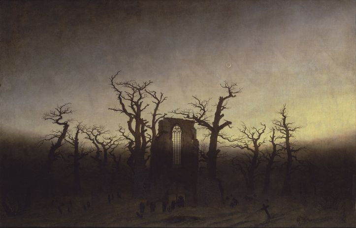 The Abbey in the Oakwoood by Caspar David Friedrich