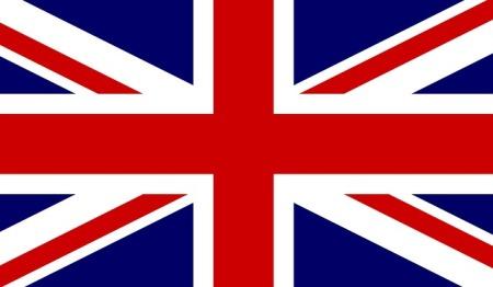 Union Jack flag of England