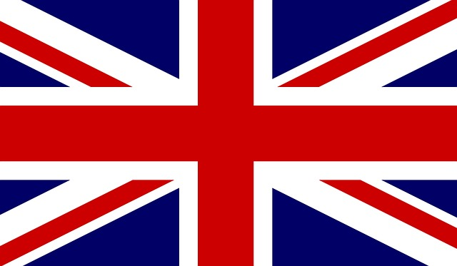 Union Jack flag of England