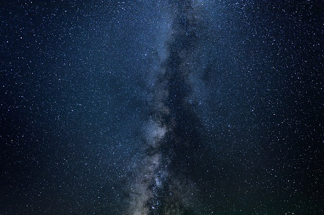Space with lots of stars and planets
