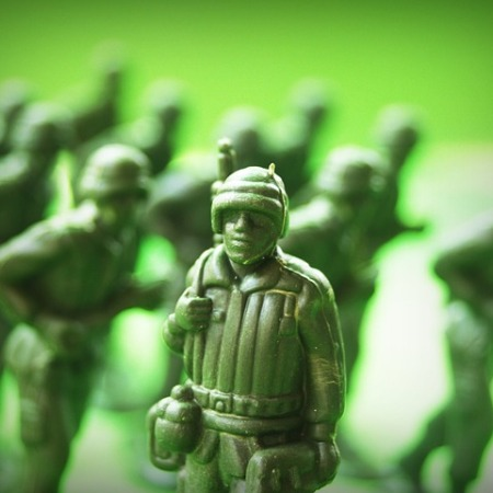 A green toy soldier for kids