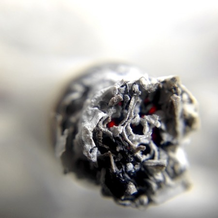 A cigarette end
