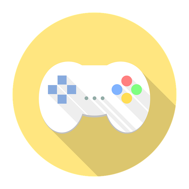 Gamepad with yellow in the background