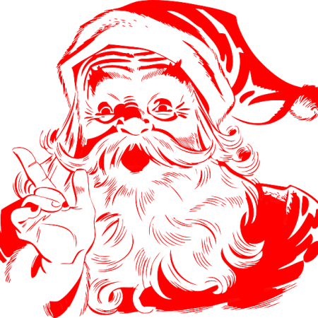 Santa Claus in red