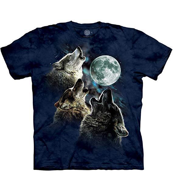 The Mountain Kids Three Wolf Moon Short Sleeve Tee