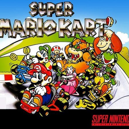 Super Mario Kart on the SNES