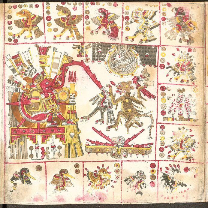 A page from the Codex Borgia - circa BC 1500