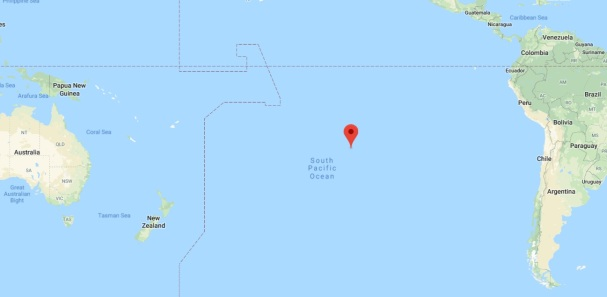 Pitcairn Island on a map