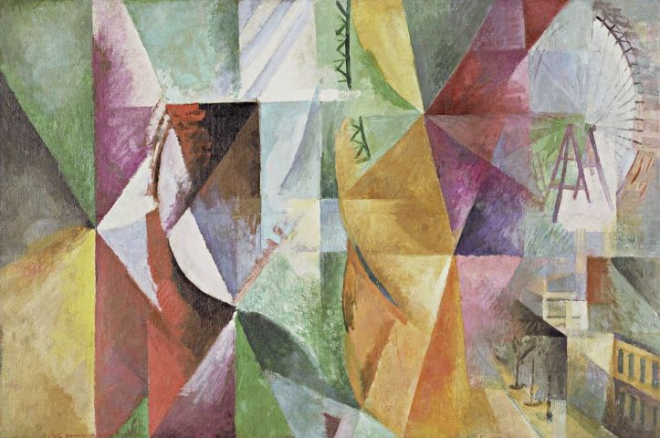 The Three Windows, the Tower, and the Wheel by Robbert Delaunay