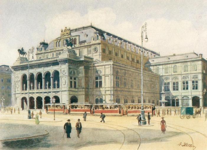Vienna State Opera House by Adolf Hitler - 1912
