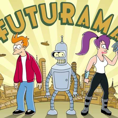 Futurama with Fry, Bender, and Leela