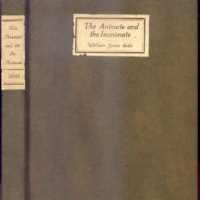 The Animate and the Inanimate by William James Sidis