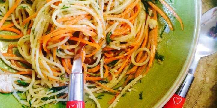 Carrot Ribbon Pasta by Jack Monroe
