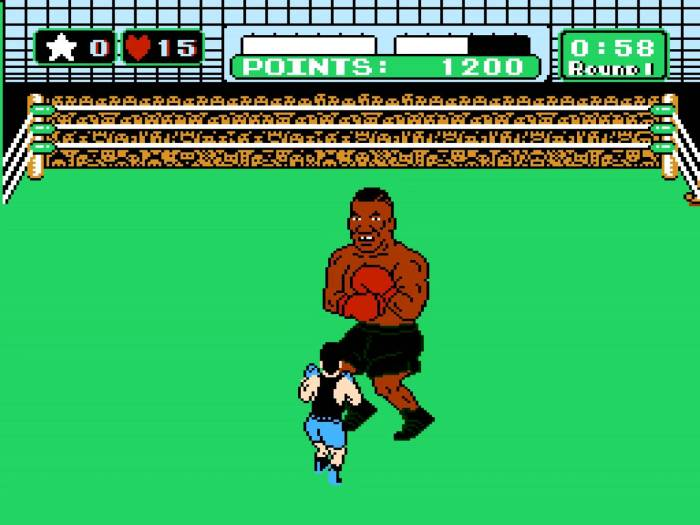 The player fighting Mike Tyson in the NES game Punch-Out!!