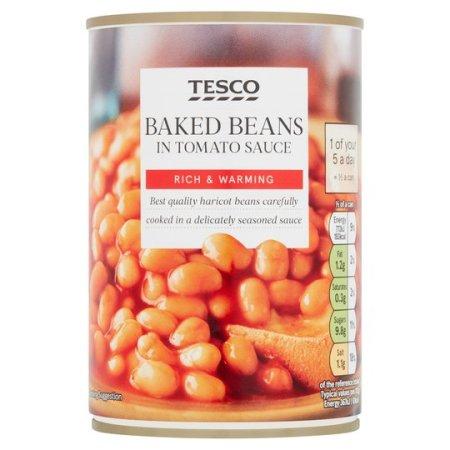 Tesco baked beans in tomato sauce