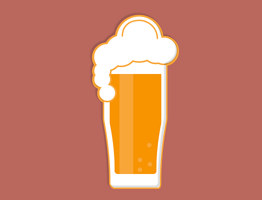 A cartoon pint of beer