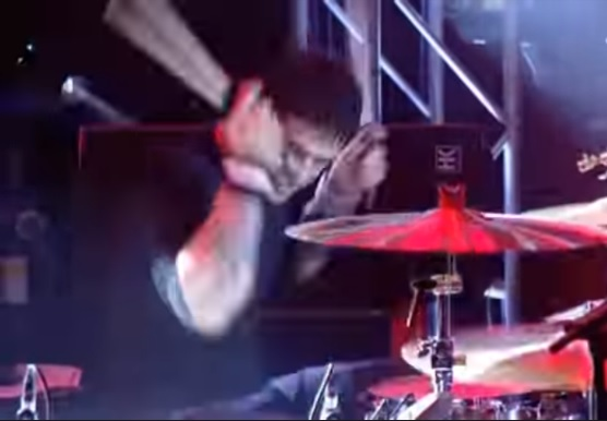 Joey Castillo drumming for Queens of the Stone Age