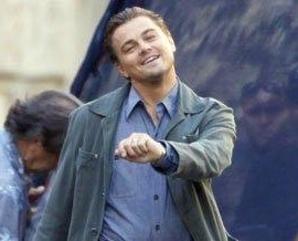 Leonardi DiCaprio doing his strut
