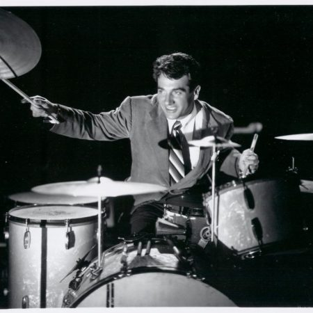 Gene Krupa playing the drums