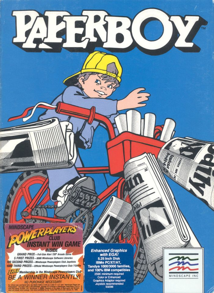 Paperboy the arcade game