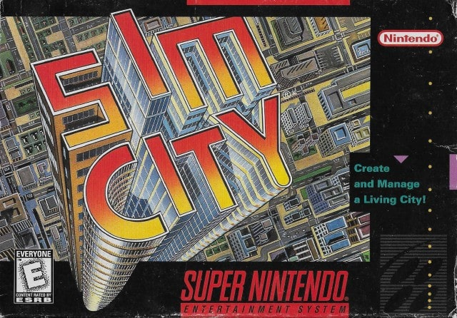 SimCity on the Super Nintendo