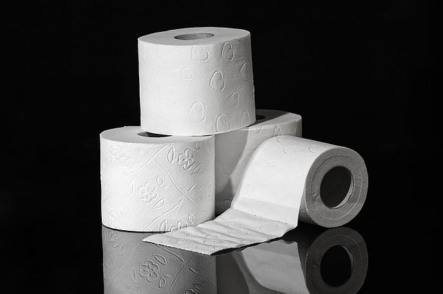 A pile of toilet paper